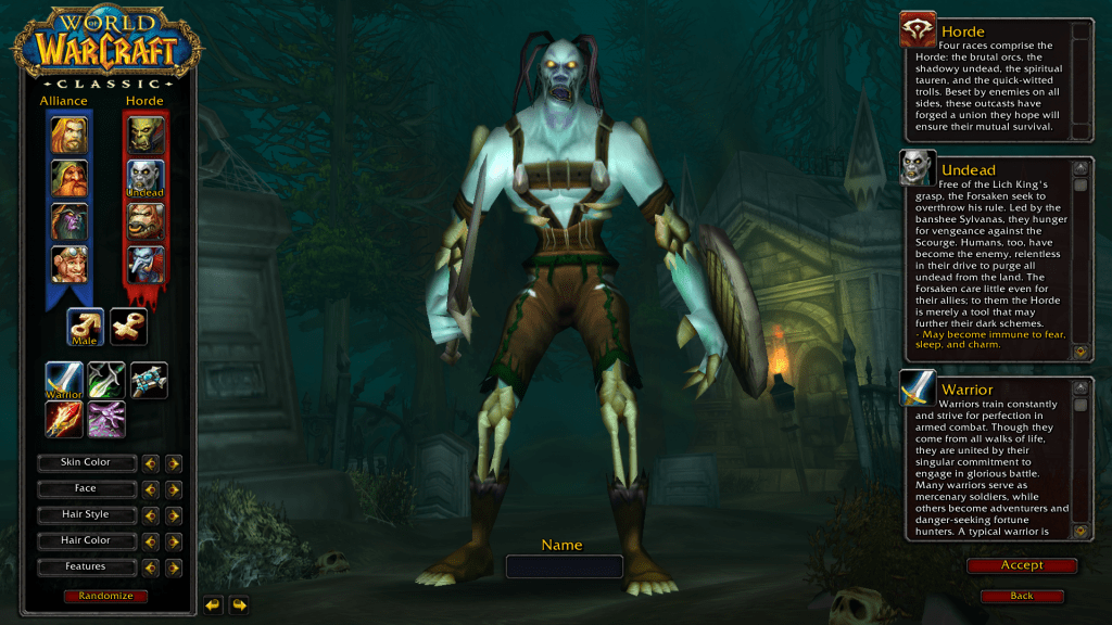 My Adventure into WoW Classic Undead Warrior